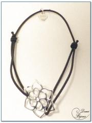 Bracelet Elastique Fleur Argent Filigrane