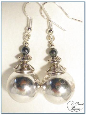 Fashion Earrings Silver Colour Metal Pearl