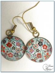 fashion Earrings Bronze Finition