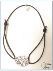 Bracelet Elastique Motif Argent Filigrane 2