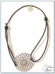 elastic bracelet silver filigree element 3
