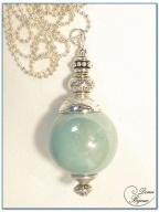 collier fantaisie finition argente perle céramique 24 mm-1
