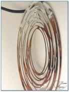 Bracelet fantaisie élastique motif filigrane finition argenté-2