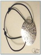 Bracelet fantaisie élastique motif filigrann argee finitionté-3