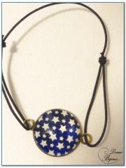 fashion elastic bracelet bronze finish cabochon-1