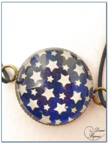 Bracelet fantaisie élastique cabochon finition bronze-1