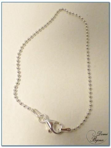 Bracelet argent boules 1,5 mm
