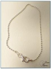 Silver bracelet little balls 1.5 mm 19 cm length