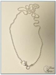 Collier argent boules 1.5 mm 45 cm