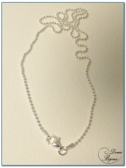Silver necklace little balls 1.5 mm 45 cm length