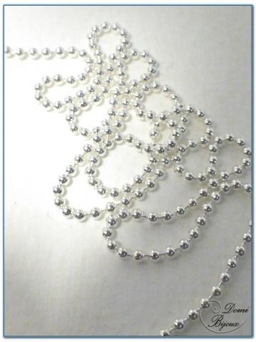Collier argent boules 1,5 mm 45 cm