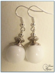 fashion earrings silver finish beniter pearls 12mm