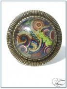 bague fantaisie finition bronze cabochon 20 mm-1