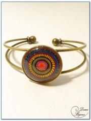 fashion cabochon bracelet bronze rigid mount-1