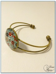 fashion cabochon bracelet rigid mount bronze finish-3