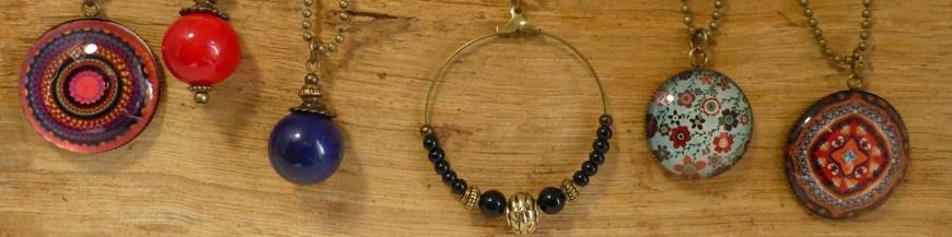 Fashion necklaces bronze finition